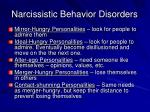 narcissistic behavior disorders