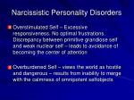 narcissistic personality disorders12