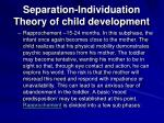 separation individuation theory of child development20