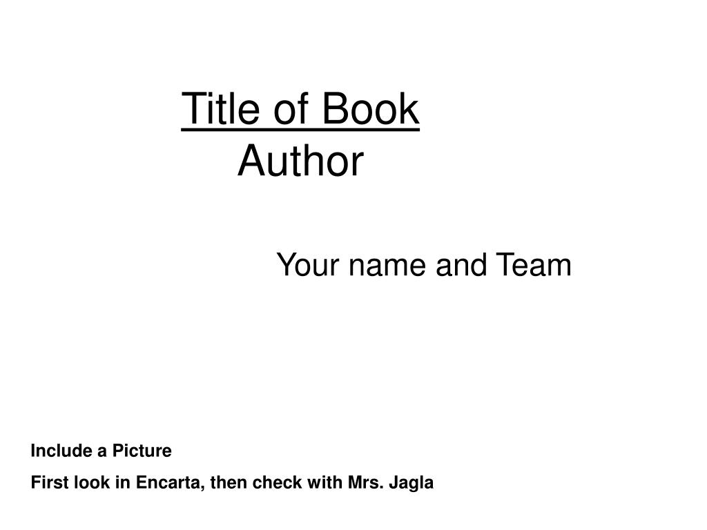 title of book author l.