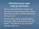 christian men must step up and lead