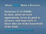 make god s work a priority