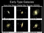 early type galaxies from the sloan digital sky survey sdss
