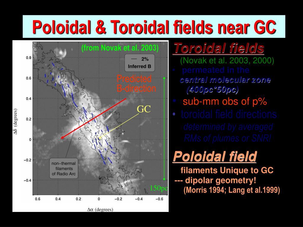 Poloidal & Toroidal fields near GC