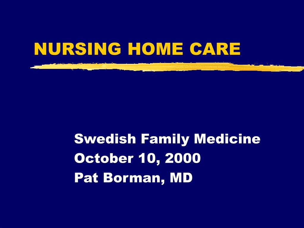 nursing home care l.