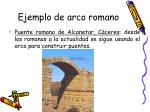 ejemplo de arco romano