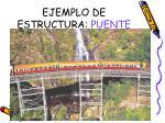 ejemplo de estructura puente