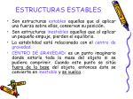 estructuras estables