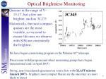 optical brightness monitoring
