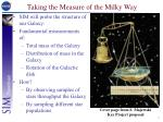 taking the measure of the milky way