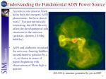 understanding the fundamental agn power source