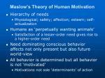 maslow s theory of human motivation