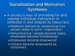 socialization and motivation synthesis17
