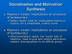 socialization and motivation synthesis19