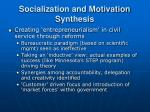 socialization and motivation synthesis22