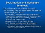socialization and motivation synthesis23