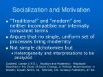 socialization and motivation2