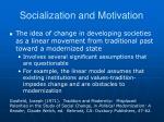 socialization and motivation3