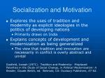 socialization and motivation4