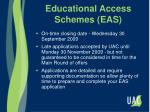 educational access schemes eas23