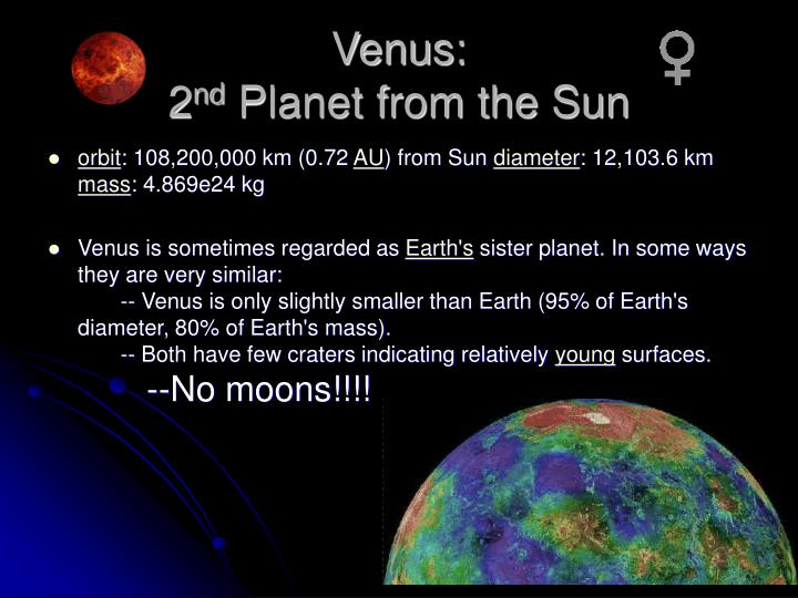 Venus 2 nd planet from the sun