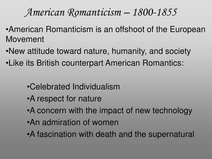 American romanticism 1800 1855