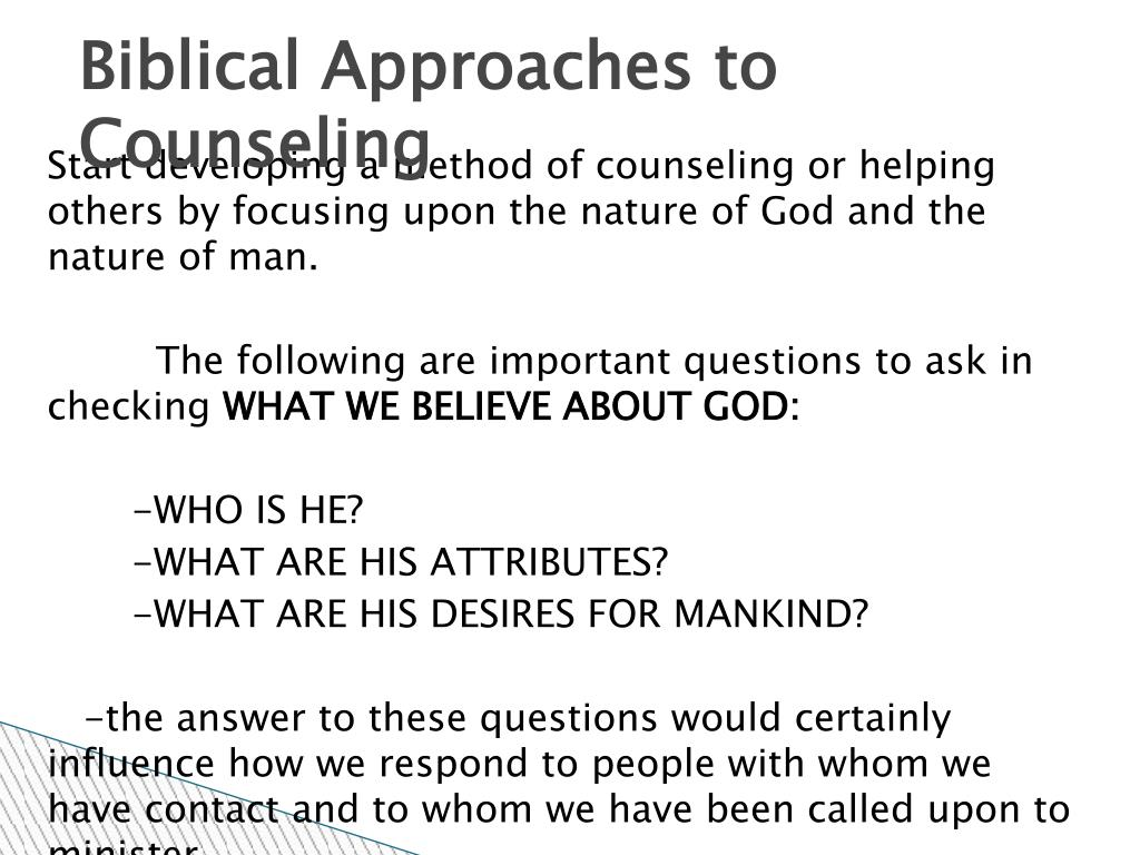 Biblical Approaches to Counseling