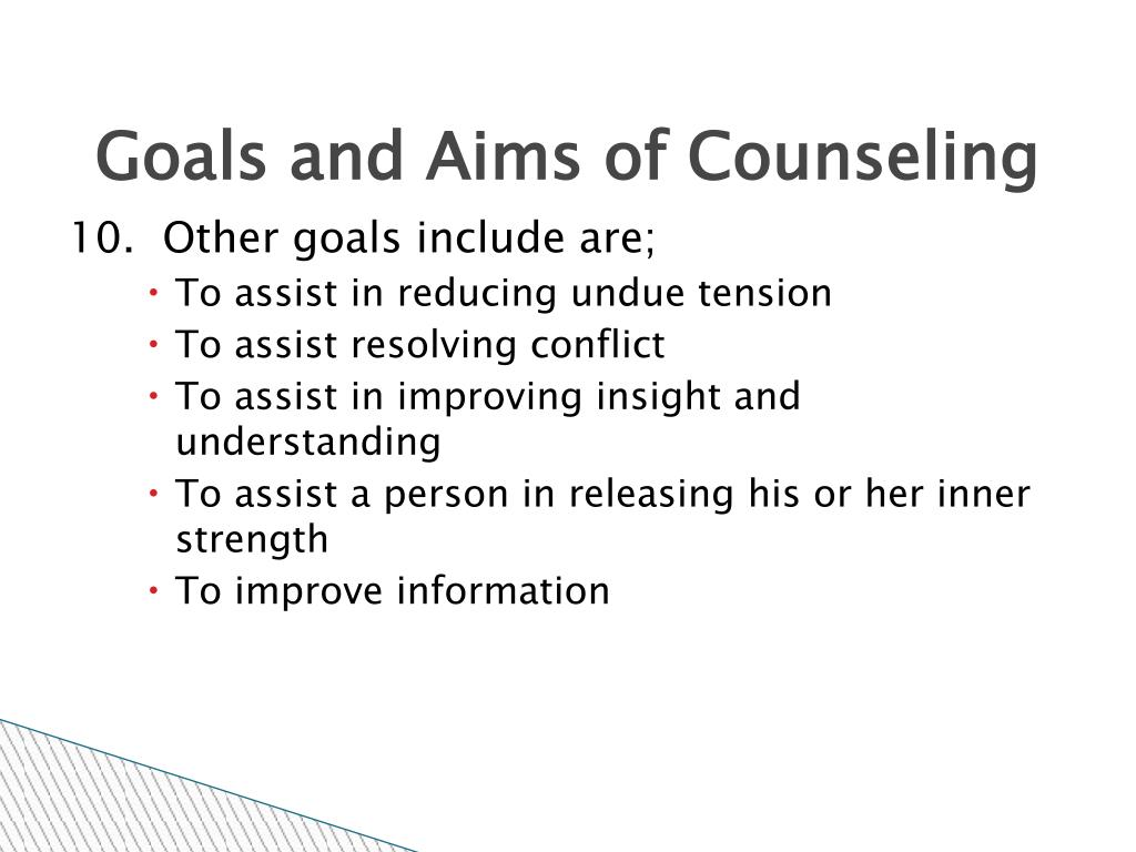 Goals and Aims of Counseling