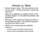 almost vs most