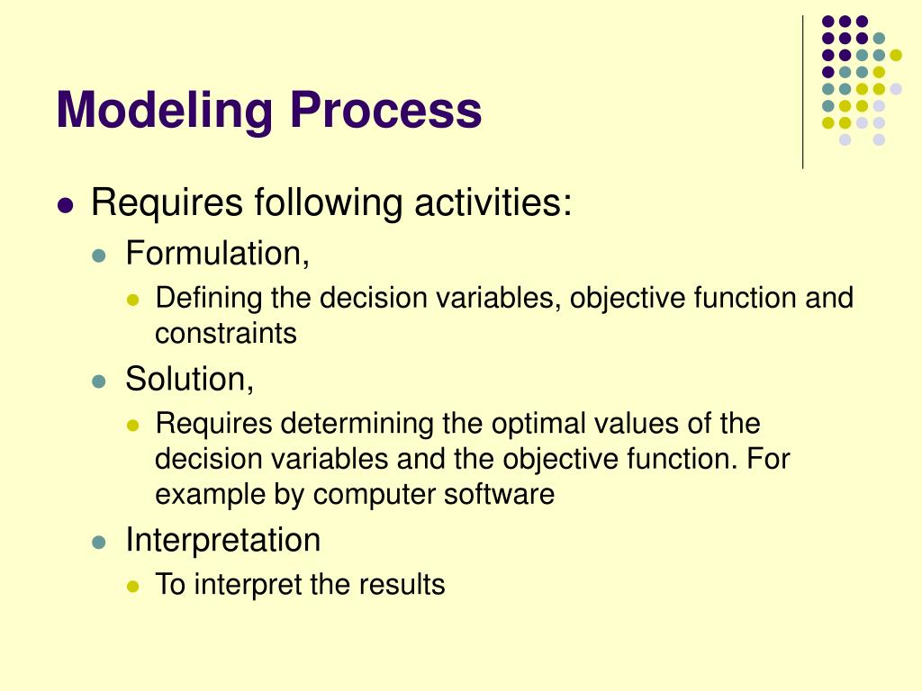 Modeling Process