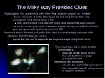 the milky way provides clues