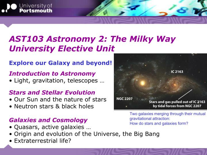 AST103 Astronomy 2: The Milky Way
