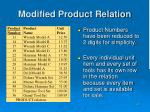 modified product relation