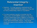 referential integrity insertion