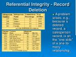 referential integrity record deletion