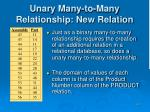 unary many to many relationship new relation
