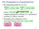wave propagation on a transmission line