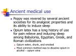 ancient medical use
