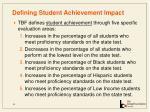 defining student achievement impact32
