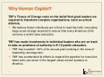 why human capital