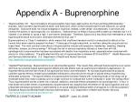 appendix a buprenorphine