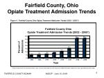 fairfield county ohio opiate treatment admission trends
