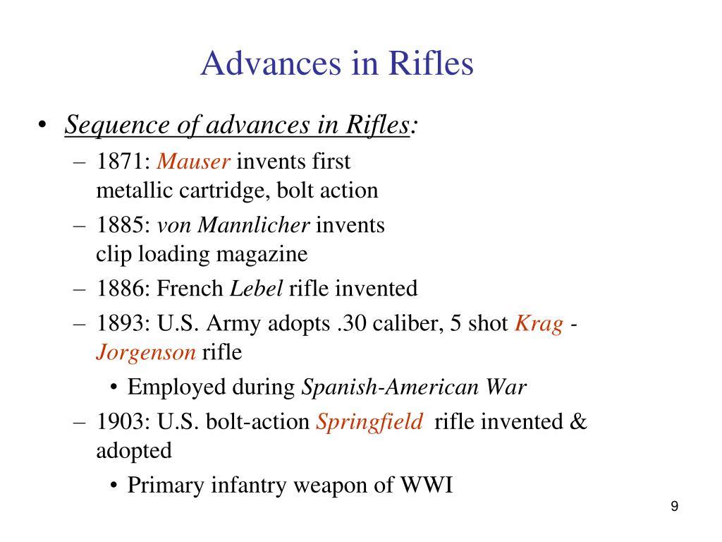 Advances in Rifles