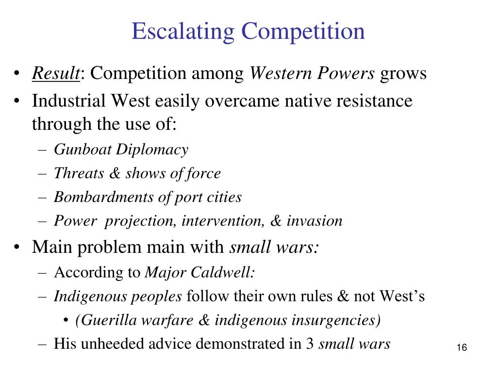 Escalating Competition