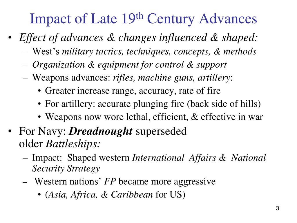 Impact of Late 19