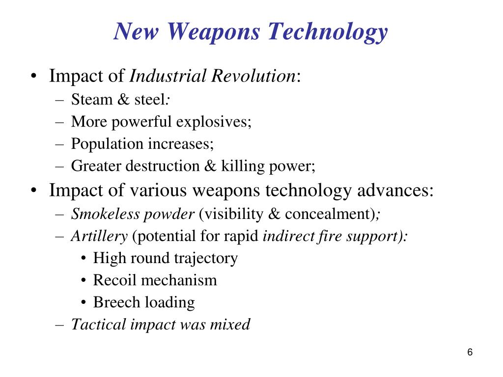 New Weapons Technology