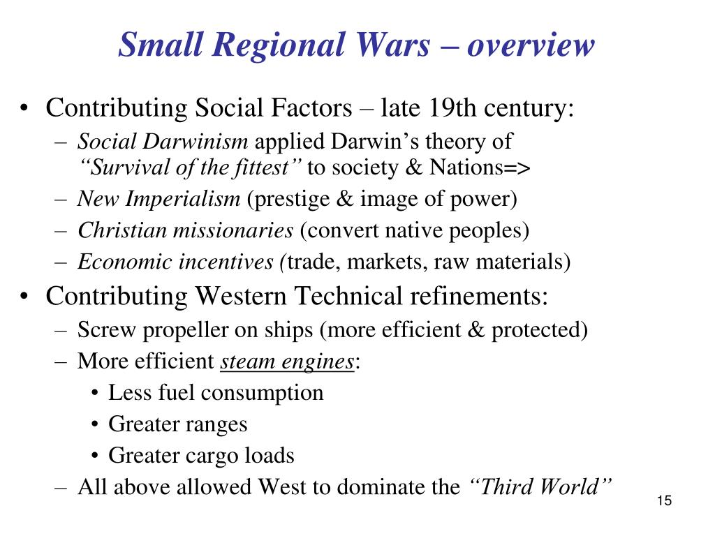Small Regional Wars – overview