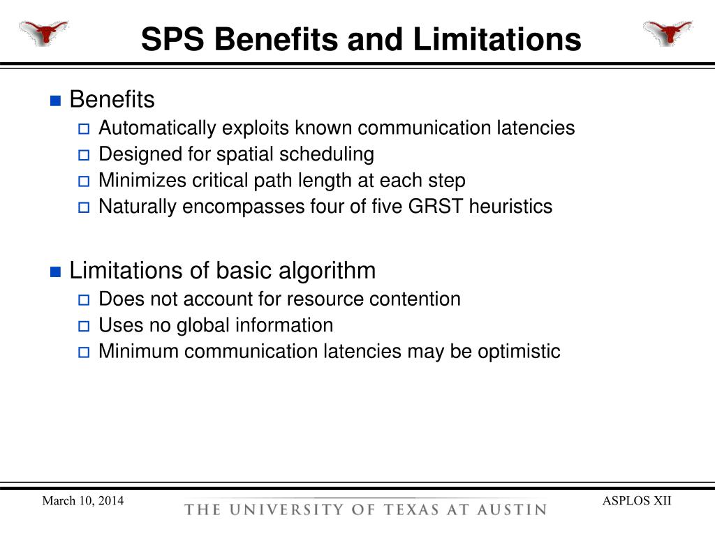SPS Benefits and Limitations
