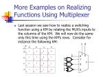 more examples on realizing functions using multiplexer
