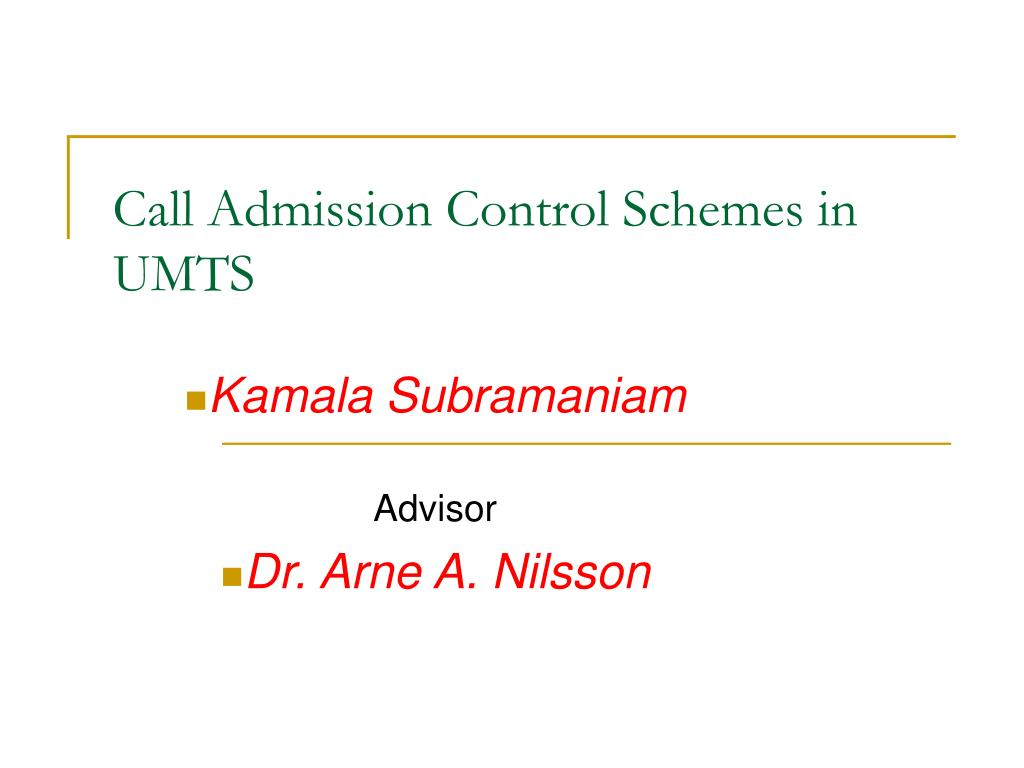 call admission control schemes in umts l.